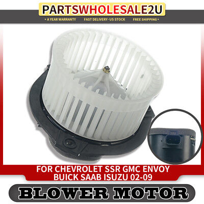 Heater Blower Motor w// Fan for Chevrolet Trailblazer A//C HVAC 89018747 15-80185