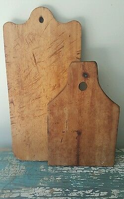 Pair of Early American Farmhouse Cutting Boards