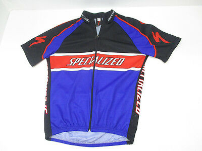 Specialized Short Sleeve Full Zip Cycling Jersey - Mens Large - Blue Red  Black dc9911f3e