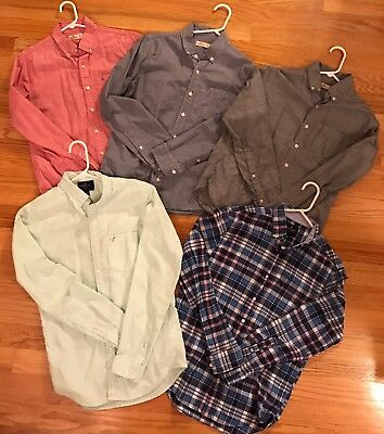 3 Hollister And 2 American Eagle Mens Shirts Size Small EUC
