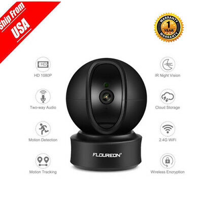 Wireless 1080P WIFI Auto 360°CCTV Smart Security IP Camera W/ Microphone Outdoor