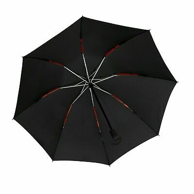 Compact Reverse Folding Umbrella Auto Open Close Windproof Red Frame Lightweight