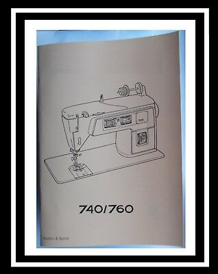 Comprehensive Singer 740 760 Sewing Machine Illustrated Instructions Manual