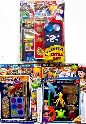 3 x CBEEBIES SWASHBUCKLE MAGAZINES WITH GIFTS ~ NEW ~