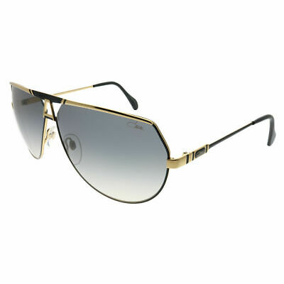 02fb1167613c Cazal Legends 953 302 Black Gold Metal Aviator Sunglasses Grey Gradient Lens