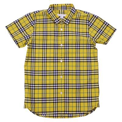 Burberry camicia in cotone check giallo