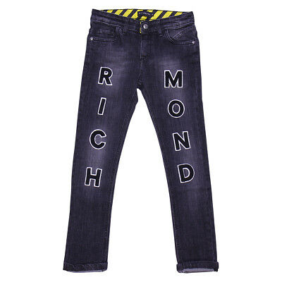 John Richmond jeans nero in denim stretch