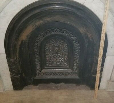ANTIQUE CAST IRON FIREPLACE SURROUND WITH COVER  W & N Jackson