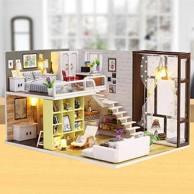DIY House Kit Handmade Model with Furnitures for Gift Toy Kids