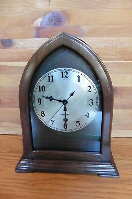 Hammond Clock Cathedral Electric Vintage Art Deco Wooden Gothic Style mantle