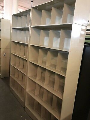 """36""""W x 12""""D x 81""""H - 24 Compartment medical cabinet in Putty metal"""