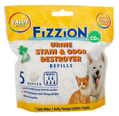 Fizzion URINE DESTROYER Pet Stain & Odor Remover Dog Cat Urine (5 Tablet Bag)