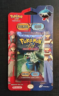 (X1) Pokemon Eng Blister Pack Ex Team Magma vs Team Aqua - Sealed and Unweighed