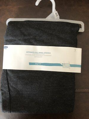 Old Navy Maternity Full-Panel Leggings Size XS BLACK HEATHER NEW