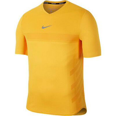 Nike NikeCourt RAFA Aeroreact Tennis Shirt - Sz Large - 888206-845 - Orange