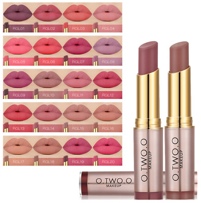 O.TWO.O Makeup All Day Lipstick Long Lasting Matte Nude Coral Peach