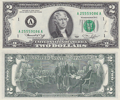 1976 $2 Boston District Notes Uncirculated FR# 1935-A