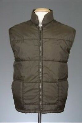 Vintage 70's Wedgefield Mens Brown  Quilted Vest Size S Western/Rodeo Style