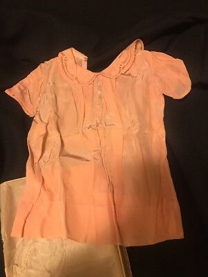 Beautiful Vintage Baby Pink Silk Dress With Original Box