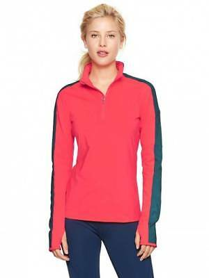Gap Womens Quarter Zip Pull Over Coral Size XS  XSmall ~ NWOT