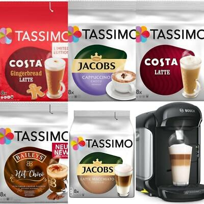 Bosch Tassimo Vivy 2 Automatic Coffee Machine 4 x Limited Edition Drinks NEW