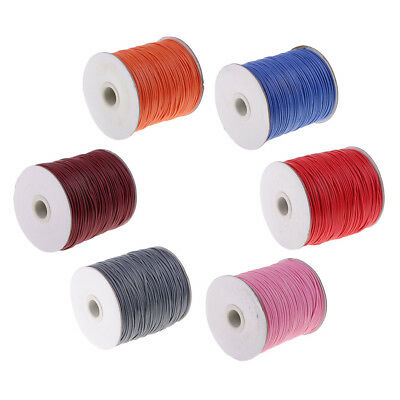 165 Meter 1.5mm Jewelry Making Beading Crafting Macrame Waxed Cotton Cord Thread