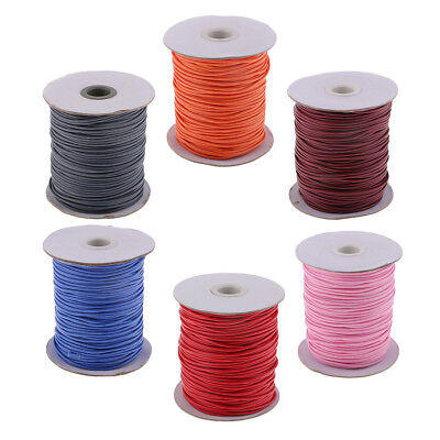 Prettyia 89 Yard/Roll Waxed Cotton Cord 2mm Thread Rope String Wire Finding