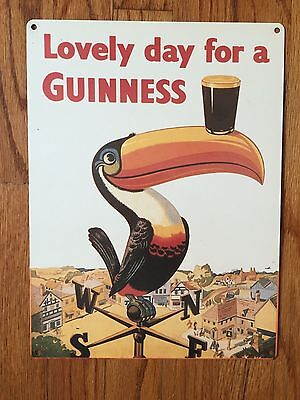 Guinness Stout Pint Nitro Beer Brewery Ireland Toucan Vintage Metal Bar Sign