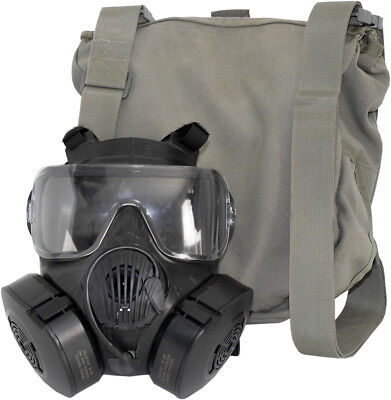 Avon M50 Gas Mask Full Face Respirator + Carry Bag, NBC Protection, Medium Size