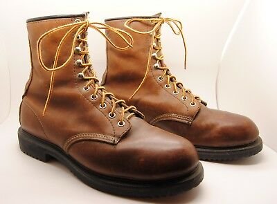 574c9ee1655 RED WING #2233 Steel Toe Brown Leather Work Boots Men's sz 9 H