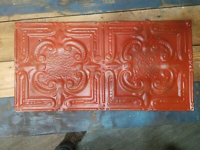 Vintage 24x12in Ceiling Tin