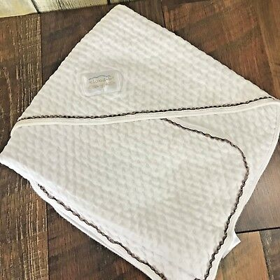Cloud B LullaWrap Pointelle White Swaddle Blanket Soft Baby Lovey Clean