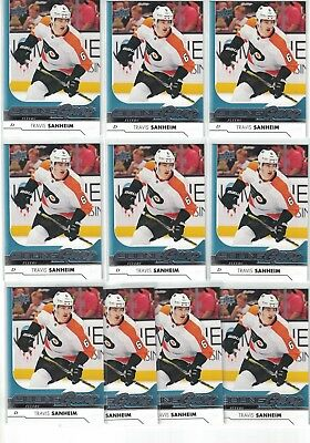 Lot Of 10 2017-18 Ud Young Guns Travis Sanheim Rookie Rc Philadelphia Flyers 214