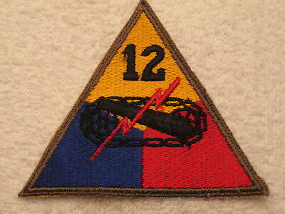 "Ww Ii Us Army 12Th ""hell Cat"" Armor Division  Vintage Original 100% Mint Patch !"