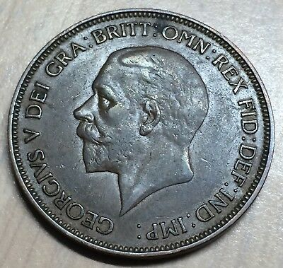 1914 & 1936 ~UK Great Britain One Penny King George V~Lot of 2 Coins~A#135