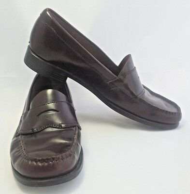 c09455d7d8f Vintage GH Bass Weejuns Casell 125 s Penny Loafers Woman sz 10M Brown  Leather