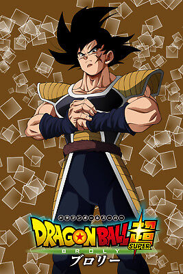 Dragon Ball Super Poster Bardock Broly Movie 2018 12inx18in Free Shipping