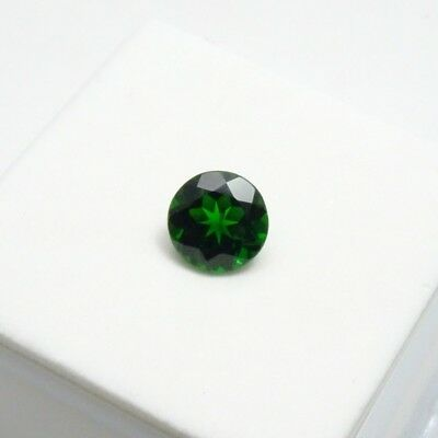 Russian Chrome Diopside 1.50ct+ 7mm Round - Chrome Diopside Loose Gemstone