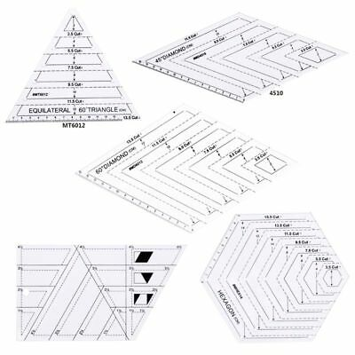 5pcs/set Quilting Sewing Patchwork Craft Scale Ruler Triangle Tailor Tools DIY