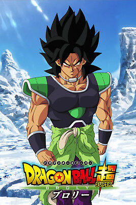 Dragon Ball Super Poster Broly Movie 2018 12inx18in Free Shipping