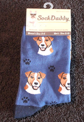 Jack Russell Dog Breed Lightweight Stretch Cotton Adult Socks