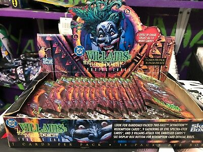 Dc villains Trading Card Box Vintage The Joker Batman Dark Judgement