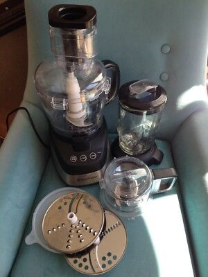 As new Russell Hobbs RHMP700 Multiprocessor 700W 2 bowl and glass blender