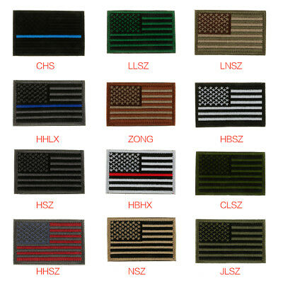 Tactical USA Flag Patch American/United States Military Embroidery Patches Loop