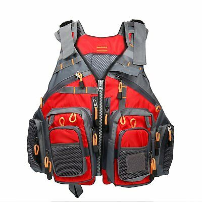 Fly Fishing Backpack Adjustable Size Mesh Fishing Vest Pack Floating Vest AUFAST
