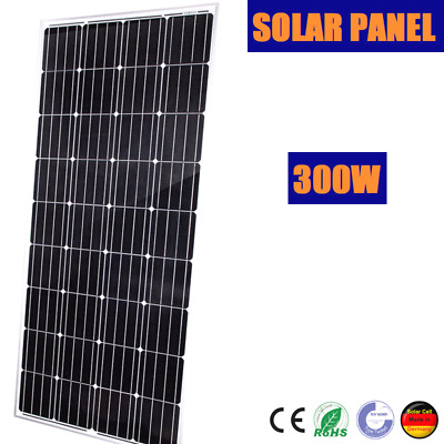 300W 12V Mono Solar Panel 300 Watt Caravan Home Boat 4Wd Battery Power Charging5