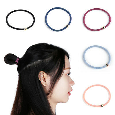 5PCS Women Golden Ball Elastic Hair Bands Ponytail Holder Lady Rubber Bands Tie~