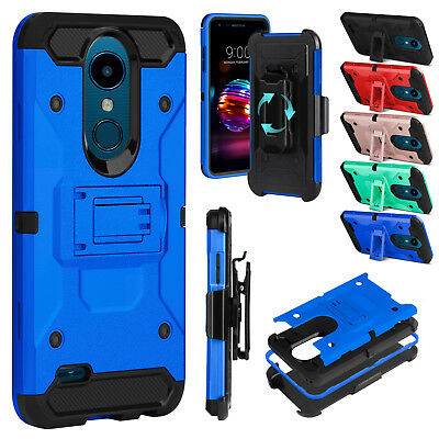 For LG K30/Xpression Plus/Phoenix Plus Hybrid Shockproof Stand Rugged Case Cover