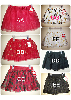 *nwt-  Baby/toddler Girl's Christmas Tutu Skirt - Holiday Time - Sizes: 12M - 5T