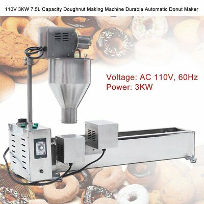 3 Mold Commercial Donut Fryer Maker Automatic Donut Making Machine Wide Oil Tank